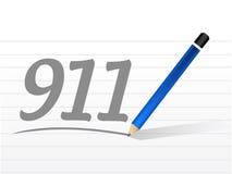911 message sign concept illustration. Design over white royalty free illustration