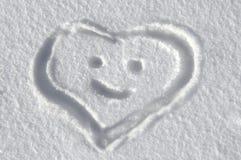 Message sincère dans la neige Photo stock