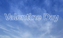 Message in the sky. Valentine message in the sky royalty free stock photography