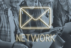 Message Social Network Chat Texting Graphic Concept Royalty Free Stock Photos