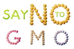Message from soya seeds Stock Photos