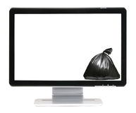 Message space and garbage bag royalty free stock image