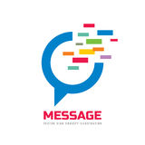 Message - speech bubble vector logo concept illustration in flat style. Dialogue talking icon. Chat sign. Social media symbol. Royalty Free Stock Photo