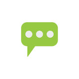 Message and speech bubbles flat icon, Modern sign royalty free illustration