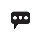 Message and speech bubbles solid icon, Modern sign Stock Image