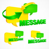 Message speech bubbles vector illustration Royalty Free Stock Images