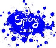 Vector Spring Sale on blotch background Stock Image