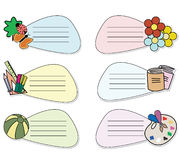 Message stickers Stock Images