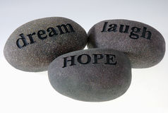 Message Stones Royalty Free Stock Photography