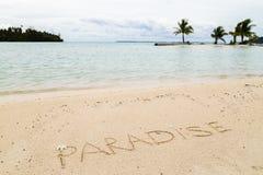 Message sur la plage Image libre de droits