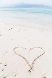 Message sur la plage Images libres de droits