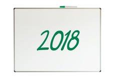 2018, message sur le tableau blanc Photo libre de droits