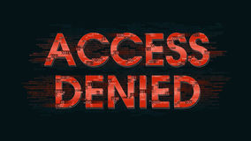 Message system access is denied - the result of authorization identification registration Stock Photos