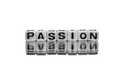 Message textuel de passion Image stock