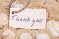 Message Thank you on the sand Royalty Free Stock Images