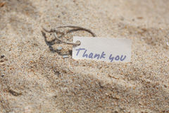 Message Thank you on the sand Royalty Free Stock Image