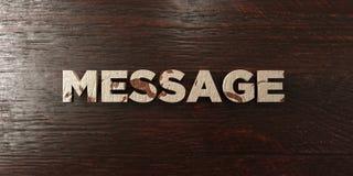 Message - titre en bois sale sur l'érable - image courante gratuite de redevance rendue par 3D illustration libre de droits