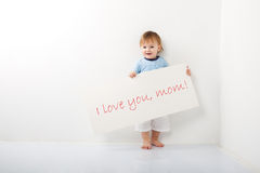 A message to mom Royalty Free Stock Images