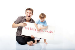 Message to mom Royalty Free Stock Photography