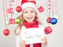 Message to Santa Claus Royalty Free Stock Images