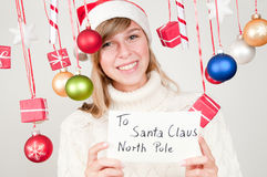 Message to Santa Claus Stock Photo