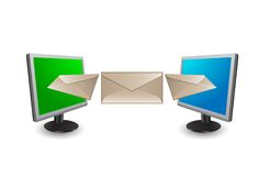 Message transfer Royalty Free Stock Photography