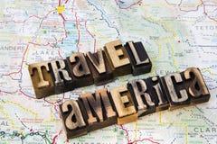 Message travel America letterpress Royalty Free Stock Photography