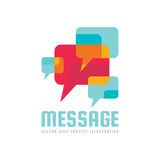 Message - vector logo template concept illustration. Speech bubble creative sign. Internet chat icon. Abstract mosaic. Royalty Free Stock Photo