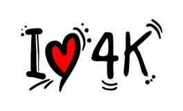 message visuel d'amour de la résolution 4K illustration stock