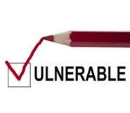 Message vulnérable Images libres de droits