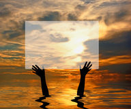 MESSAGE FROM THE WATER Royalty Free Stock Images