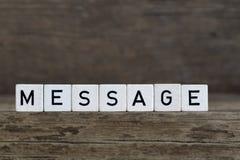 Message, written in cubes Stock Photos