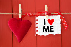 Message written I love me Royalty Free Stock Photography
