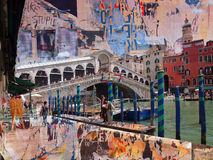 Messageboard-Brücke, Venedig Stockfotos