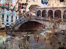 Messageboard Bridge, Venice Stock Images