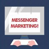 Messager conceptuel Marketing d'apparence d'écriture de main Acte des textes de photo d'affaires du marketing à vos clients emplo illustration libre de droits