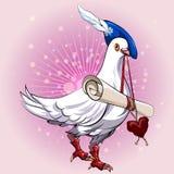 Messager d'amour Photos libres de droits