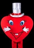 Messager de coeur, noir d'isolement image stock