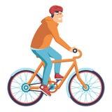 Messager Man de la livraison de bicyclette illustration libre de droits