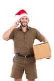 Messager Taking An Order de Noël Images libres de droits