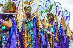 Messagers africains en Trinidad Carnival Image stock