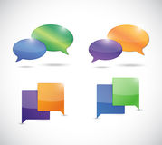 Messages bubbles illustration design Royalty Free Stock Photo