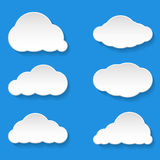 Messages Clouds Icon. Weather Symbols. Stock Photography