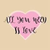 Messages d'amour et mots doux d'amour illustration de vecteur