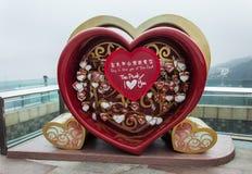 Messages d'amour sur Victoria Peak en Hong Kong Photo stock