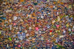 Messages de mur d'amour Images stock