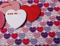 Messages de Valentines Photographie stock libre de droits