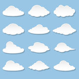Messages in the form of Clouds. Set Messages in the form of Clouds. Illustration Vector Illustration