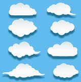 Messages in the form of clouds for you design Royalty Free Stock Image