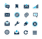 Messages Icons Azure Series Stock Photo